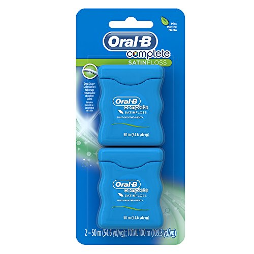 Oral-B Complete Satin Dental Floss Mint, 50m, Twin Pack