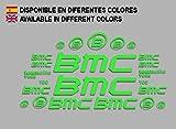 Ecoshirt AG-JVQS-90P6 Aufkleber BMC F167 Vinyl Adesivi Decal Aufkleberbögen resto MTB Stickers Bike, grün