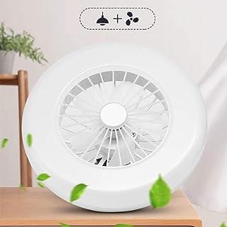 GUSICA Ventilador de Techo Silencioso con Iluminación LED, Lámpara de Ventilador 36W Luz Blanca Fría, Hogar E27 Lámpara Ventilador de Cabeza Luz para Dormitorio Sala de Estar Comedor