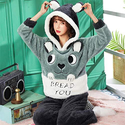 Bayrick Pijama Sexy Mujer Invierno,Pijamas Damas cálido oto