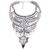 YAZILIND Exaggerated Chunky Necklace Luxury Rhinestone Long Clavicle Chain Jewelry Women Party Gift