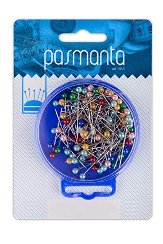 Professionelle Stecknadeln, Zum Schneidern, Schicker perlenförmiger Stecknadelkopf, Verschiedene Farben, 100 Stück, robust, langlebig, hochwertig, von Pasmanta seit 1953