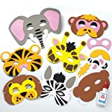 Baker Ross Lot de 6 kits de fabrication de Masques en Mousse - Motif Animaux de la...