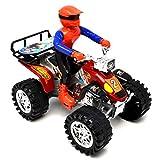 VENTURA TRADING Cuatriciclos de 20cm Patio Accionado por fricción Cuatriciclo Quad de Juguete Moto Quad 4x4