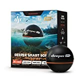 "Deeper PRO+ Smart Sonar - GPS Portable Wireless Wi-Fi Fish Finder for Shore and Ice Fishing, Black, 2.55"" (DP1H10S10)"