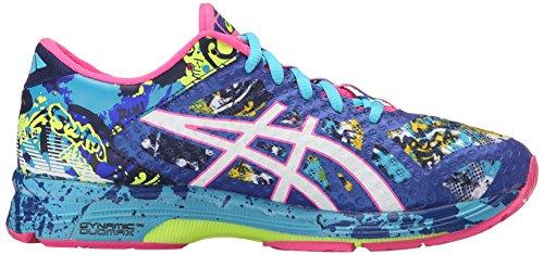 ASICS Women's Gel-Noosa Tri 11 Running Shoe, Asics Blue/White/Hot Pink, 9 M US 7