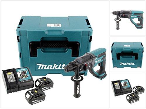 Makita DHR 202 RFJ Akku Kombi-Bohrhammer 18V 2,0J SDS Plus + 2x Akkus 3,0Ah + Ladegerät im Makpac