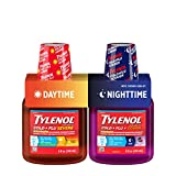 Tylenol Cold + Flu Severe Daytime & Nighttime Liquid Cough Medicine, 2 ct. of 8 fl. oz