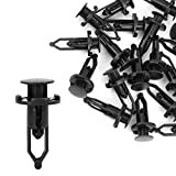 uxcell 20 Pcs Push-Type Automotive Clips Rivet Retainer Fender Bumper Fasteners Clips 9mm