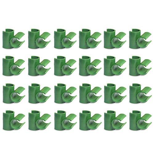 somubi Conectores de plantas de cierre giratorio hebilla de conexión botón de cruz verde ajustable PP plástico accesorios de herramientas de jardín