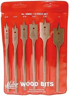Malco WB6K Spade Type Wood Bit Set, 6-Piece