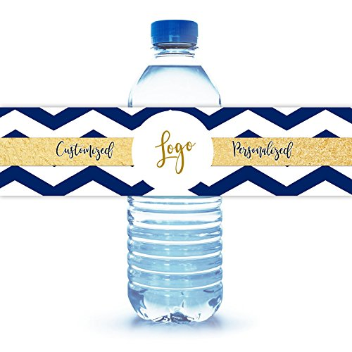 Water Bottle Label Custom Personal Wedding Party Baby Shower Logo Graduation Family Reunion