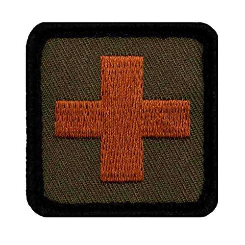 Café Viereck ® B&eswehr Sanitäter Medic Patch Gestickt mit Klett - 4 cm x 4 cm