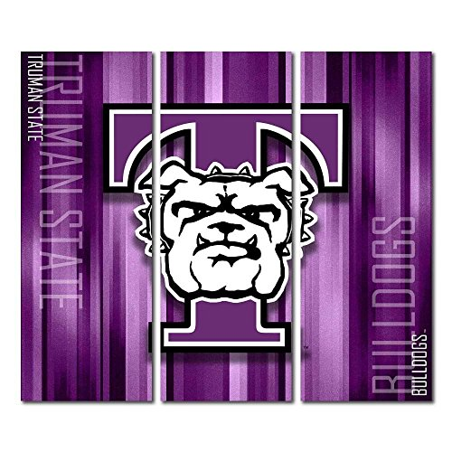 Victory Tailgate Truman State University Bulldogs Triptych Canvas Wall Art Rush (48x54 inches) image
