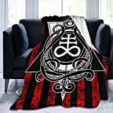 Leviathan Cross and Tentacles Satanic Blanket Chilly Nights Anti-Pilling Flannel Soft for All Seasons Carpet