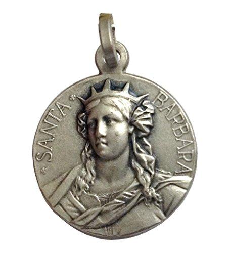 925 Sterling Silber St. Barbara Medaille