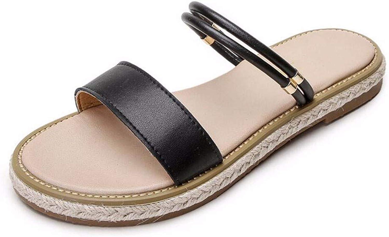 Sandaler för kvinnor i i i mode ny koreansk version Platt -Solidade Sandaler och Slippers för strand skor  exportutlopp