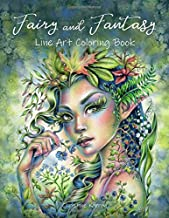 Fairy and Fantasy Line Art Coloring Book