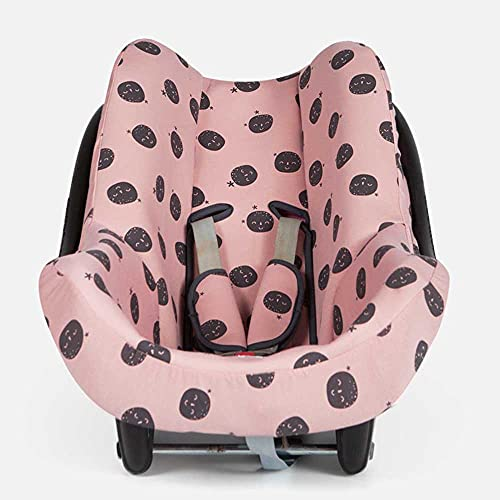 BAOBABS BCN - Funda Silla de Coche para Bebé   Grupo 0   Universal   Con Refuerzo 3D y Transpirable   Color Pink Carbon Moon
