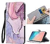 ZhuoFan Funda para Samsung Galaxy S20 FE 5G / S20 Lite Carcasa de Cuero PU con Tapa Flip Case con Soporte/Ranura de Tarjeta Cubierta Premium Magnético Suporte TPU Protectora Tipo Libro Fundas, Mármol