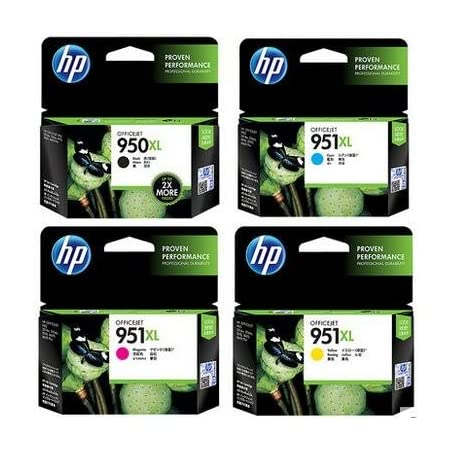 4-pack Replacement Set for HP 950XL 951XL Ink Cartridges, Latest Chipset, Compatible with HP Officejet Pro 8610 8620 8600 8600 plus 8100 8630 8640 8660 8615 8625 251dw 271dw Printer