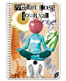 BookFactory Weight Loss Journal/Food and Exercise Tracking Log Book/Logbook - Wire-O, 102 Pages, 6' x 9' (JOU-102-69CW-PP-(WeightLoss))