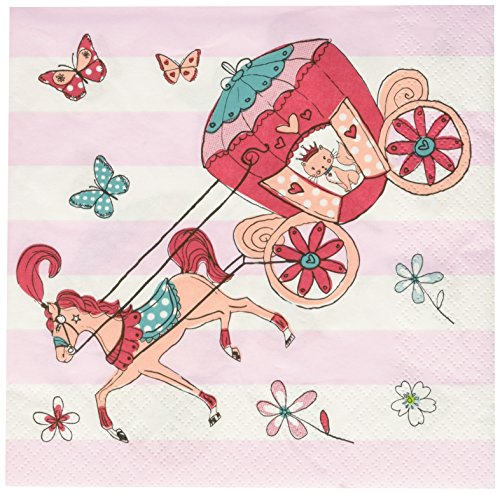 Talking Tables 33 x 33 cm 3 Plis Princess Serviette de Table fête, Lot de 20