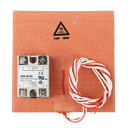B Blesiya Heating Plate For 3D Printer 150x150mm + Solid State Relay SSR-DA Single Phase