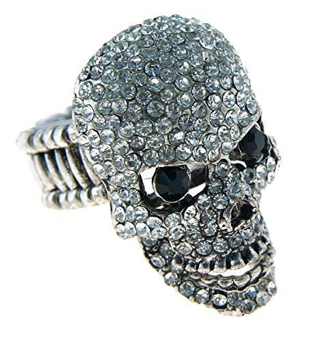 Klunkerliebe Modeschmuck Elasticring mit Skull MR200