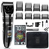Professionelle Haarschneidemaschine Schnurlose Haarschneidemaschine, LCD-Farbdisplay, Bart- und...