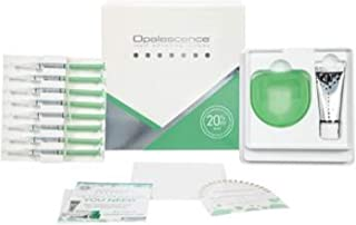 Opalescence PF Patient Kit 20%, Mint- 8 Syringes, 1 1oz Opalescence Toothpaste, 1 Paper Shade Guide, 1 Trays Case and instruction to use.