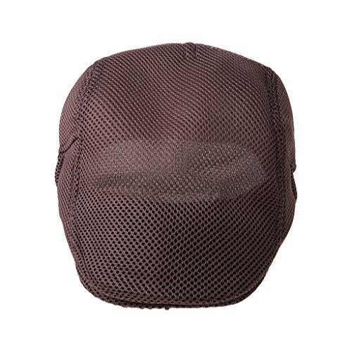 Vdn Djvn Boina - 1 unidad, mezcla de algodón para hombre, transpirable, malla de verano, para bodega, hiedra, gorra caliente plana, suave, 55 - 60 cm, multicolor