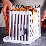 Bread Slicer Toast Slicer Bread Toast Slicer Bagel Loaf Slicer Sandwich Maker Toast Slicing Machine Folding and Adjustable Thicknesses Bread Cutter (White, 1pcs)