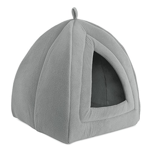 PETMAKER Cat Pet Bed, Igloo- Soft Indoor Enclosed Covered Tent/House for Cats, Kittens, and Small...