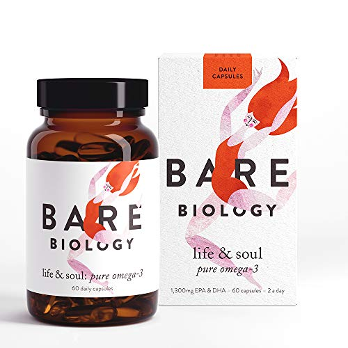 Bare Biology Life & Soul Omega 3 Fish Oil Daily Capsules (previously Lion Heart) - All Round Brilliance for Body, Mind & Soul - Super-Strength/Made from Sustainably Sourced Fish (60 Capsules)