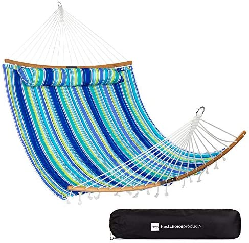 Best Choice Products 2 Person Portable Quilted Curved Hammock for Outdoor Patio Camping w 450lb product image
