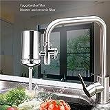 Filtro de agua Acero inoxidable purificador de agua del grifo, diseño independiente, el filtro activado purificador de agua for eliminar el óxido de carbono, las bacterias y elemento de filtro de agua