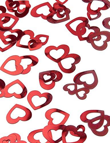 Amscan International Cœur Shimmer prismatic Mix Confettis métalliques, Rouge