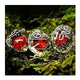 KENSG 7pcs / Set Animal Polyhedral Juegos de Dados, para Juegos de Mesa MTG RPG D4 D6 D8 D10 D% D12 D20 Juego de Dados para Fiestas Familiares (Color : Ladybug)
