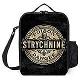 Strychnine Vintage Tote Bag para el almuerzo para mujer, caja de almuerzo Insulated para oficina, trabajo, escuela, picnic Beach, 25 × 20 × 8 cm