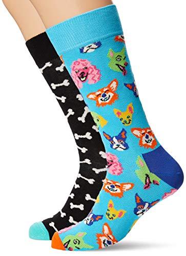 4//7 Taglia Unica: 36-40 Multicolore Multicolour 630 Happy Socks Super Dad Sock Calze Donna
