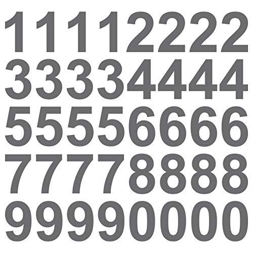 kleb-Drauf | 40 Zahlen, Höhe je 10 cm | Silber - glänzend | Autoaufkleber Autosticker Decal Aufkleber Sticker | Auto Car Motorrad Fahrrad Roller Bike | Deko Tuning Stickerbomb Styling Wrapping