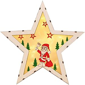 LED Navidad iluminación de madera decorativa luces Diseño Lámpara Luz Cadena lámpara de mesa Iluminación Interior Pilas Árbol de Navidad Ventana Regalo Requisiten exterior Iluminación