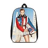 ASFDF Petit sac à dos pour enfants Karlie Kloss Stills Sac à dos imprimé Sac vintage Sac à dos étudiant 41x12x28cm