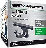 Rameder Attelage rotule démontable pour Renault KANGOO + Faisceau 7 Broches (130452-03404-2-FR)