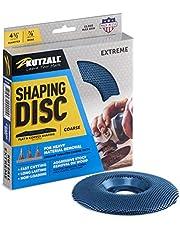 "Kutzall Extreme Shaping Disc - Grof, 4-1 / 2"" (114.3mm) Diameter X 7/8"" (22.2mm) Bore - Houtbewerking haakse slijper Attachment voor DeWalt, Bosch, Makita. Schurende Tungsten Carbide, SD412X90"