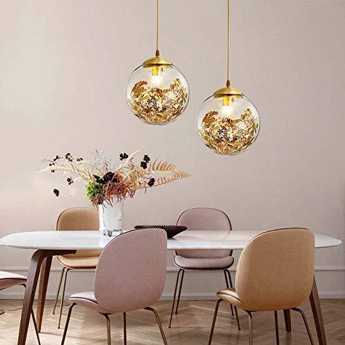 Sebasty Candelabros nórdicos creativos personalidad noche después de un pequeño dormitorio lámpara moderna de lujo restaurante bar sola cabeza completa cobre lámpara diámetro 25 cm x 25 cm alto