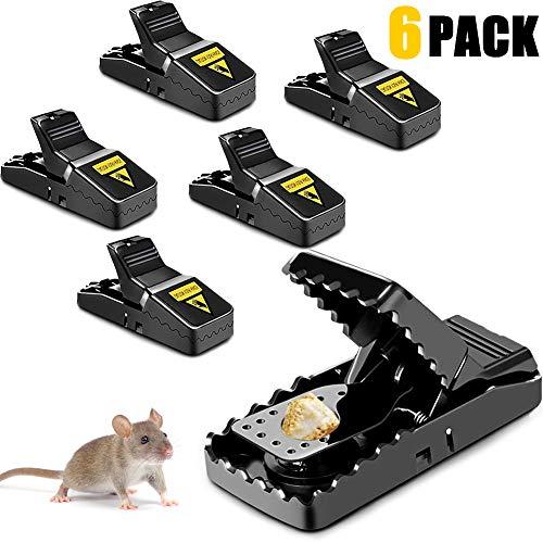 NZQXJXZ Mausefalle 6 Stück Mäusefalle Schlagfalle aus Kunststoff stärker und effektiver Mausefallen, Einfach Zu Bedienen, Hygienisch, Ökologisch und wiederverwendbar In Haus Und Garten