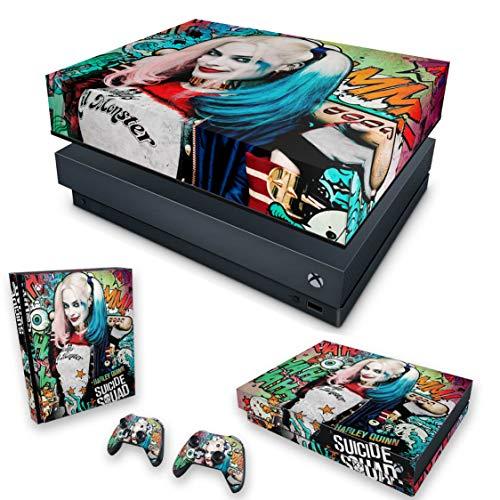 Capa Anti Poeira e Skin para Xbox One X - Esquadrão Suicida #A
