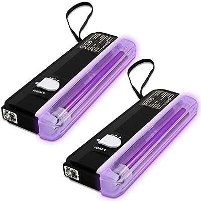 beamz 2x Ultraviolet Mini UV Glowing Disco DJ Tube Lights Halloween Party Lighting